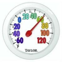 Taylor Precision 5631 ColorTrack Dial Outdoor Wall Thermometer