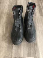 Polo Ralph Lauren Men's Conquest HI II Size 13 Black Leather Boots Dual Zip