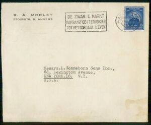 Mayfairstamps BELGIUM COMMERCIAL 1947 COVER ANWERPEN TO NY USA wwi96251
