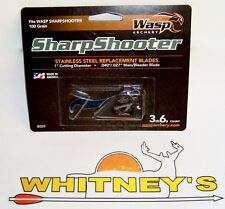 """Wasp Archery-The SharpShooter Replacement Blades-100Gr. 1""""Cut-#8009"""