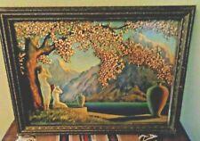 "Vintage Henri G Reynard print  ""Love's Echo ""  ~11"" X 15"" Print"