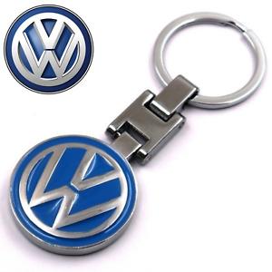 New Metal Volkswagen Key Chain Ring Both Side Volkswagen Classic Logo Boxed