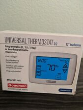 Goodman Touchscreen Thermostat programmable or non-programmable Thermostat