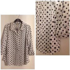 Marks and Spencer Cotton Long Sleeve Collared Women's Tops & Shirts