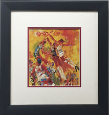 "LeRoy Neiman ""Basketball Superstars"" CUSTOM FRAMED Print KAREEM Wilt Chamberlain"