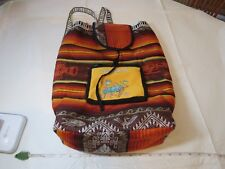 Bahamas bookbag backpack turtles fish back pack bag padded travel lama waves