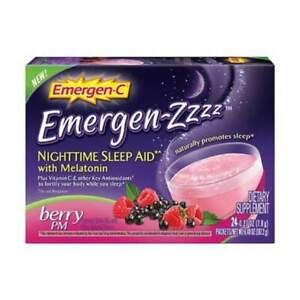 Emergen-ZZZ Nighttime Berry PM Sleep Aid, 24 Count