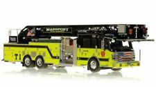 MASSPORT FIRE-RESCUE TRUCK 1 - ROSENBAUER 101' COBRA AERIAL 1/50 Fire Replicas