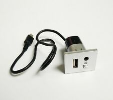 AUX USB Plug Switch Slot Silver Interface Mini USB Adapter For Ford Focus