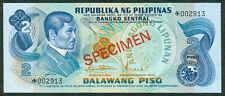 ABL 2 Pesos Marcos - Licaros SPECIMEN MALTESE CROSS Banknote