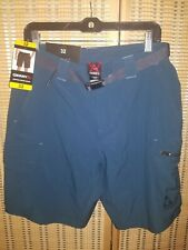 New! Gerry Men's Vertical Water Quick Dry Hiking Shorts Belted, Blue Size 32 NWT