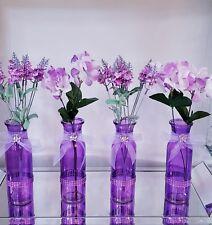 Ser of 4 purple table decoration