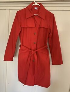 Women's Cooper Jeans Company  Size S Trench Coat  Red jacket fits Sz 8