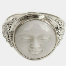 Moon Face Ring 925 Sterling Silver Ring Wide Ring Boho Ring All Size AK-337
