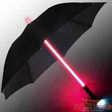 RED LIGHTSABER LIGHT UP UMBRELLA & BRIGHT LED TORCH STARWARS STYLE GREAT GIFT