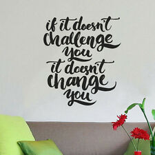 De Pared citar Motivacional casa de decoración de pared pegatina de vinilo calcomanía Mural Arte Inspire