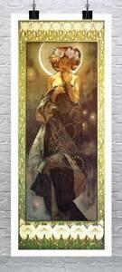 The Moon Alphonse Mucha Art Nouveau Poster Fine Art Giclee Print Canvas or Paper