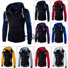 Men Coat Jacket Outwear Sweater Winter Slim Hoodie Warm Hooded Jumper Sweatshirt