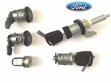 FORD KA door Lock Set & scheggiata i tasti di accensione barile & Benzina Cap & Boot 1061282
