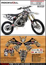 2009-2012 KAWASAKI KXF 250 Rockwell Motocross Graphics Dirt Bike graphics Kit