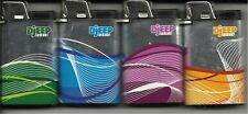 METALLIC WAVES DESIGNS DJEEP LIGHTER SET OF 4 ONE OF EACH COLOR NEW
