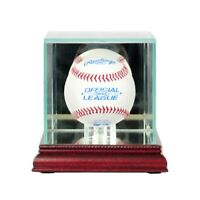 Glass Baseball Display Case UV Protected*FREE SHIPPING Made in the USA MLB