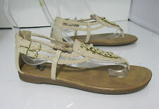 Summer Skintone Womens Shoes Roman Gladiator Flat Sandals Size 9