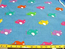 15 YARD BOLT BLUE AIRPLANES PLANES 100% COTTON FABRIC QUILTING KIDS  wholesale