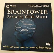 BRAINPOWER - EXERCISE YOUR MIND - MENSA DVD PROMO SUNDAY TIMES