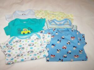 Lot of 6 One-Piece Rompers for Infant Boy, 0-9 Months, Gerber, Carter's; VGC