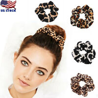 Leopard Velvet Scrunchie Elastic Women Hair Accessories Girls Fashion Bands Lot