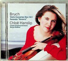 CHLOE HANSLIP- Bruch : Violin Concertos No 1 & 3; Sarasate : Navarra CD