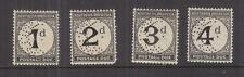 NORTHERN RHODESIA, Postage Due, 1929 set of 4 perf. SPECIMEN, lhm.