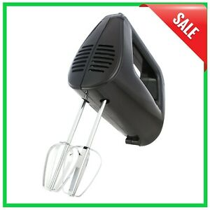 Hand Mixer 5-Speed - Lightweight, Corded, Kitchen Appliance, Baking Cookies Cake