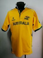 """Genuine KUKRI Rugby 7's Adelaide Australia Jersey size XL 44"""" Chest Gold Green"""