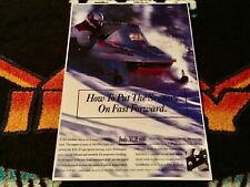 New listing 🏁 '95 POLARIS INDY XCR 600 Snowmobile Poster   vintage sled XCR600 Triple