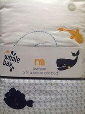 Mothercare Whale Bay Fish Design Cot Bumper Also For A Cot Bed  *** Bnip ***