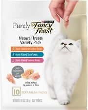 (1) Purina Fancy Feast Purely Natural Hand-Flaked Variety PK Cat Treats 1.06 Oz.