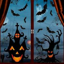 Halloween 3D Wall Stickers Spiders Bats Self-Adhesive Party Decor Window Decals