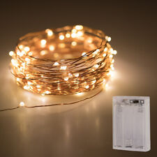 50LED String Light 20FT Micro Rice Wire Copper Fairy Xmas Party Light Warm White