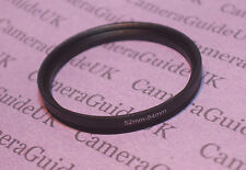 52mm to 54mm Male-Female Stepping Step Up Filter Ring Adapter 52mm-54mm UK