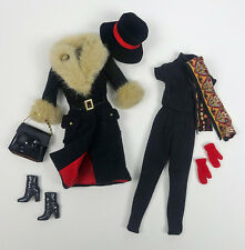 """BARBIE CITY SEASONS WINTER ~ Fashion Royalty Coat Scarf Gloves 12"""" Doll Outfit"""