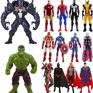 Toys Gift Marvel Avengers Superhero Spiderman Venom Hulk Wolverine Action Figure