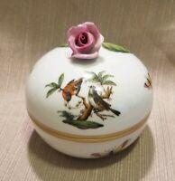 Herend Rothschild Trinket Box, Hand Painted