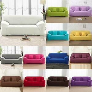 1-4 Seater Stretch Slipcover Chair Sofa Couch Cover Elastic Slipcover Protector