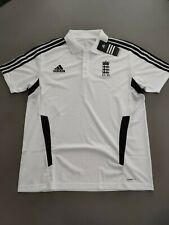 """Adidas England Cricket Polo Shirt Large (44-46"""" Chest) New with Tags - Free P&P"""