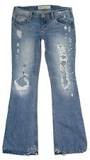 Hollister Womens Jeans Destroyed Distressed Flare Junior Size 5 Cotton Denim
