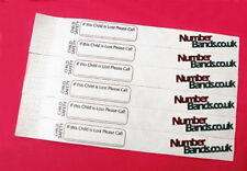 SAFETY BANDS CHILDREN SAFETY PROTECT DAYS OUT FESTIVALS CHESSINGTON CAMPING 99p