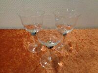 3 x Theresienthal Design Kristall Glas Weinglas - Handarbeit - 9 cm x 16 cm