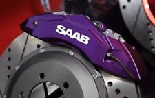 Saab Brake Hi Temp Vinyl Caliper Decal Set Of 6 (Any Color)